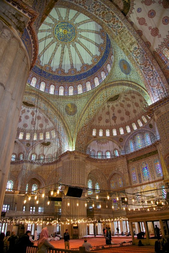 5 giant domes in Blue Mosque