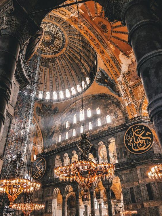 Istanbul tourist destination visiting Hagia Sophia