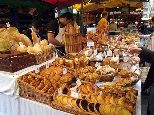 The bakery shop in borough market London