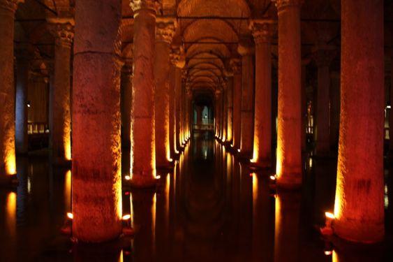Giant column in Basilica Cistern
