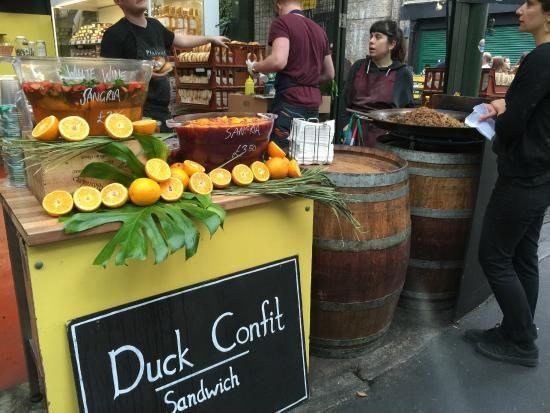 duck confit in borough market