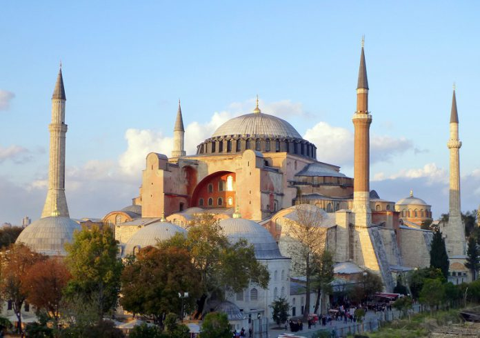 historical sites in Istanbul the Blue Mosque and Hagia Sophia