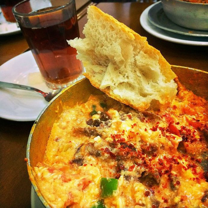wonderful egg dish Turkish breakfast Menemen