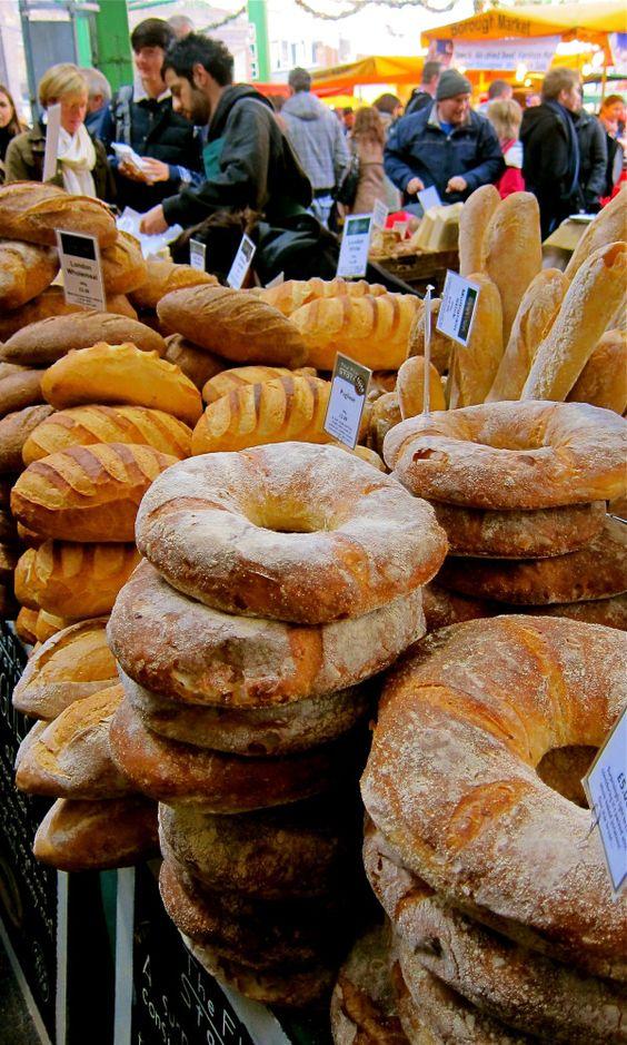 plenty of giant bread in borough market