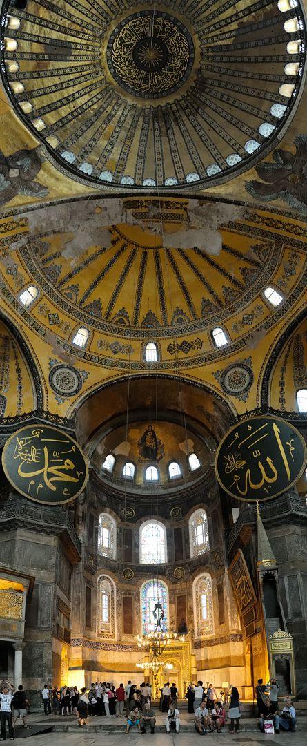 the giant dome Hagia Sophia