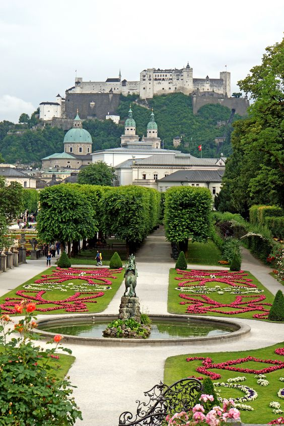 mirabell garden is the famous place for Hollywood scenic movie setting