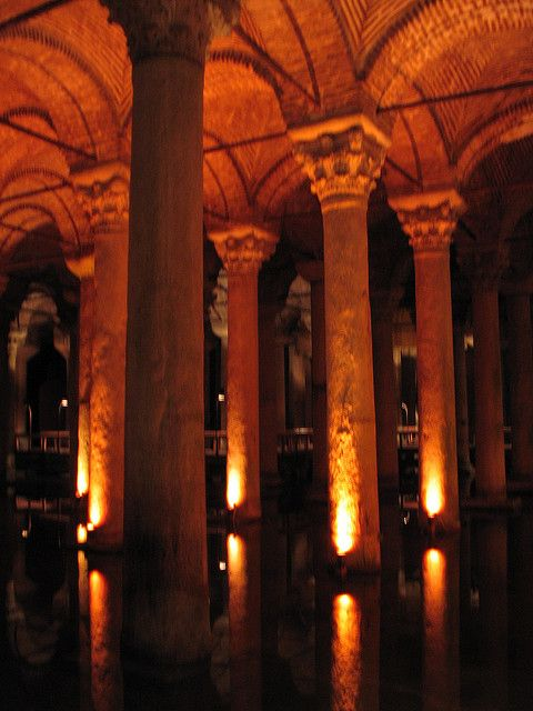 people feel spooky or romantic in the Basilica cistern