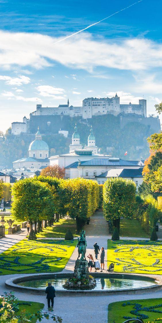 sightseeing in Salzburg, Austria, Mirabell garden