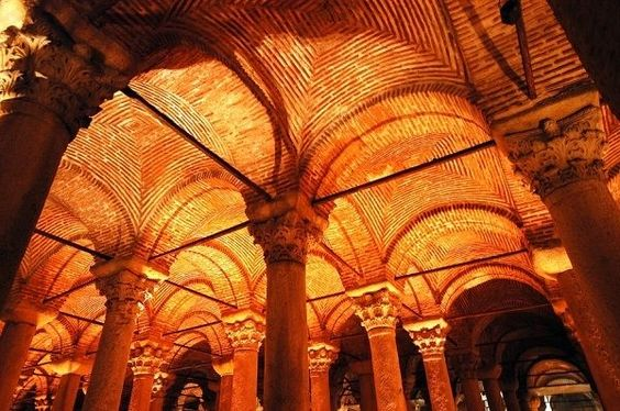 The great construction of Basilica cistern