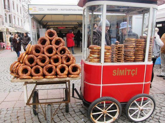 Simit Istanbul street food