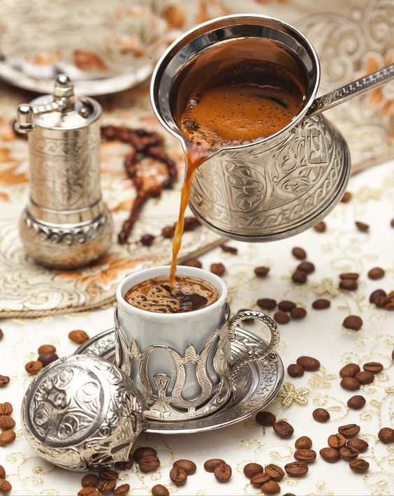 Turkish coffee in the istanbul street food