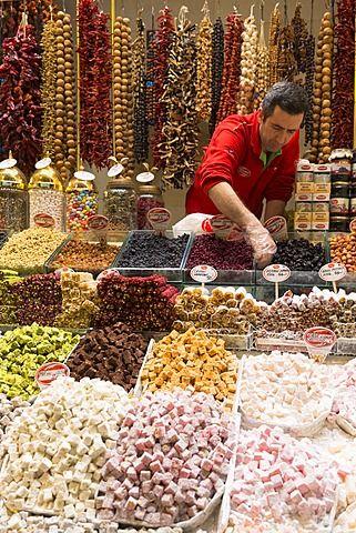 turkish delight in the grand bazaar market