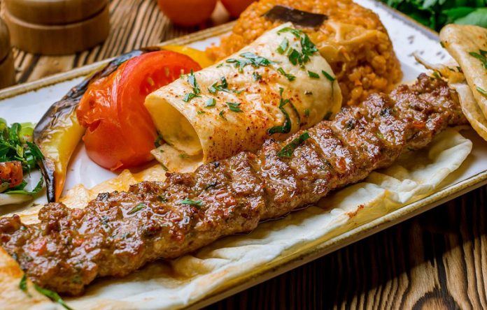 The best ground lamb Turkish Adana kebab style
