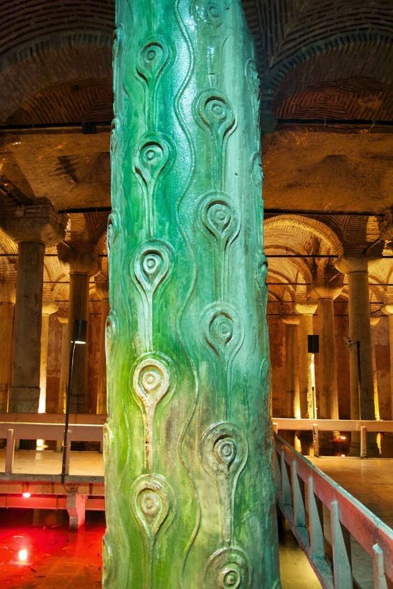 water drainage of Constantinople, the Basilica cistern