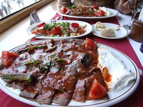 Iskender kebab turkish culinary