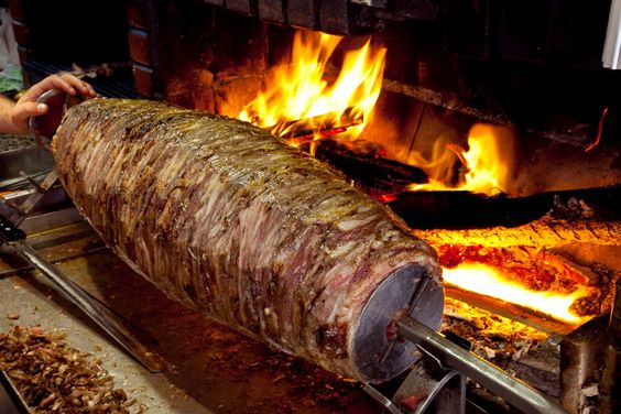 Turkish cag kebab style