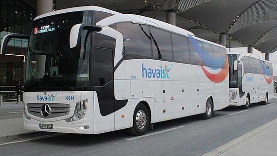 The bus from Istanbul airport to the heart of the city