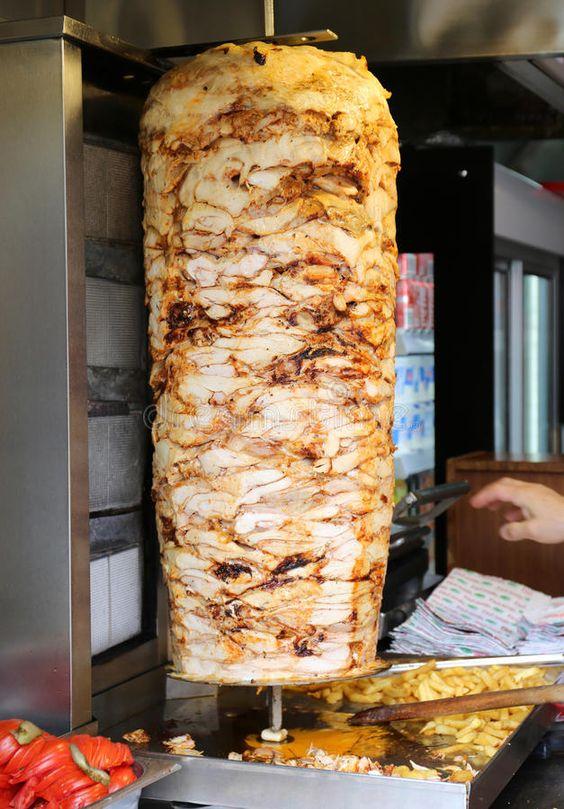 delicious Turkish doner kebab