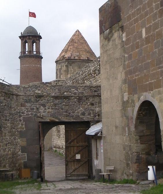 Great medieval architecture building of Erzurum castle