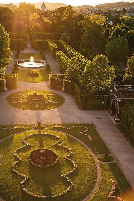 private imperial park in Schönbrunn palace, Vienna