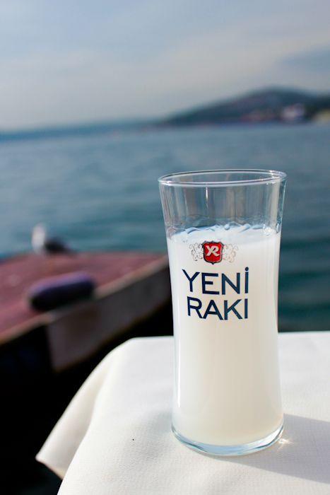 Turkish alcoholic drink Raki