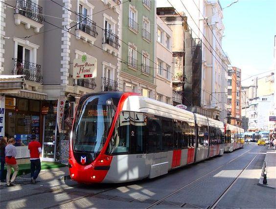 Taking the metro in Istanbul