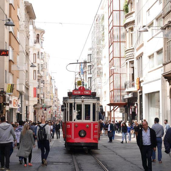 enjoying Istanbul trip by walking