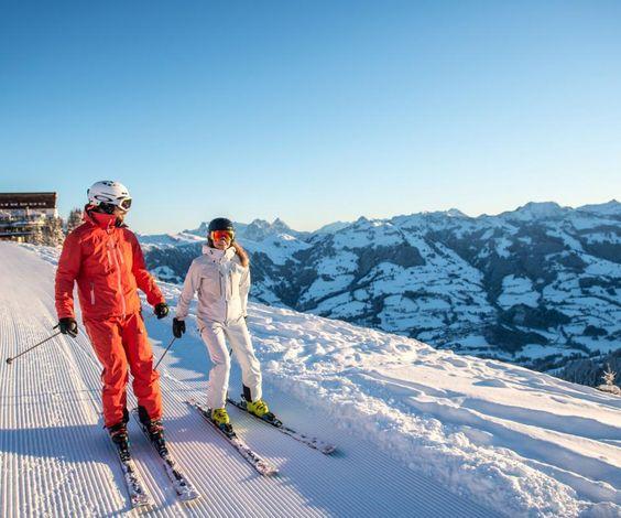 Kitzbühel ski resort in Austria