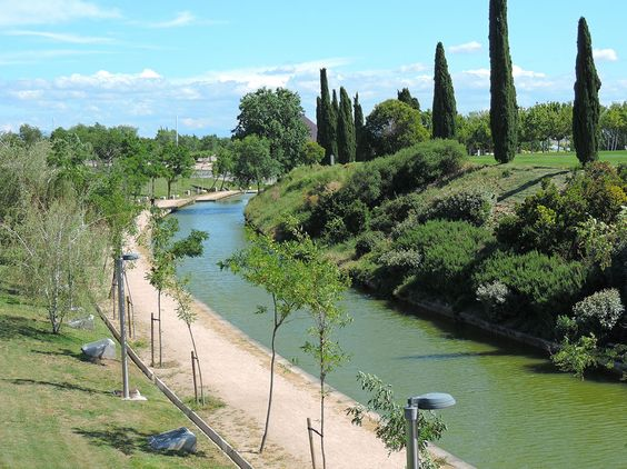 Parque de Juan Carlos I beautiful park in Madrid, Spain
