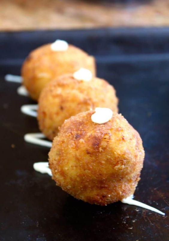 Spanish Leek Croquettes famous tapas in bars