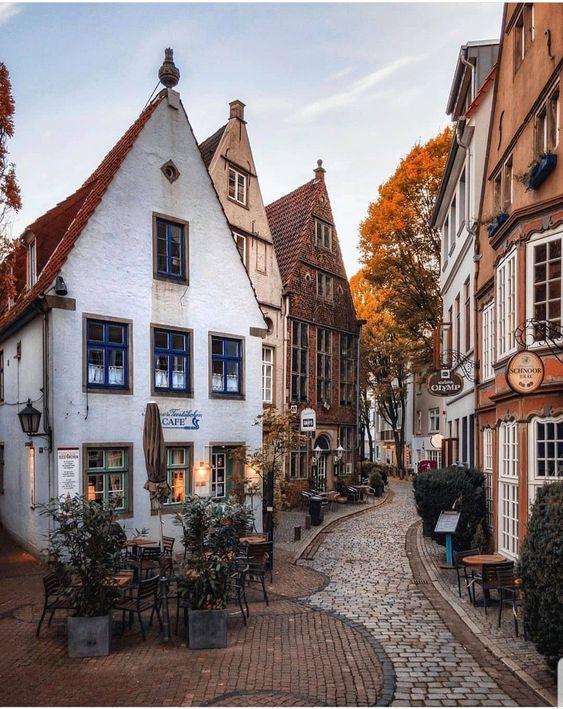walking through the old town in Austria