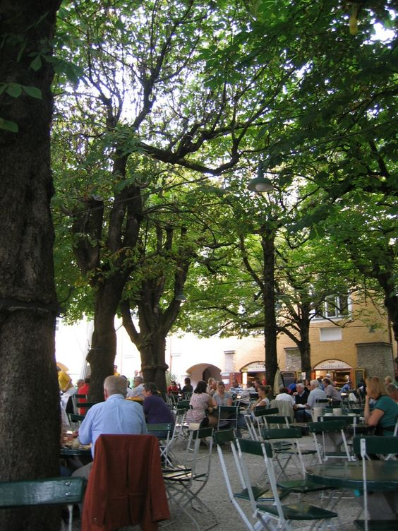 best beer garden in Salzburg, Austria