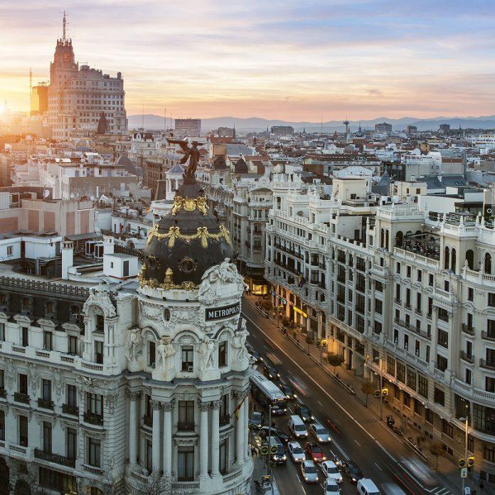 most famous street in Madrid, Gran Vía