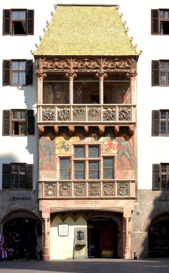 visiting the golden roof of Innsbruck