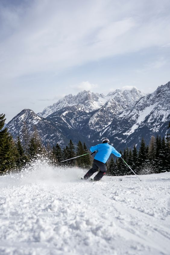 snow vacation in a ski resort Austria