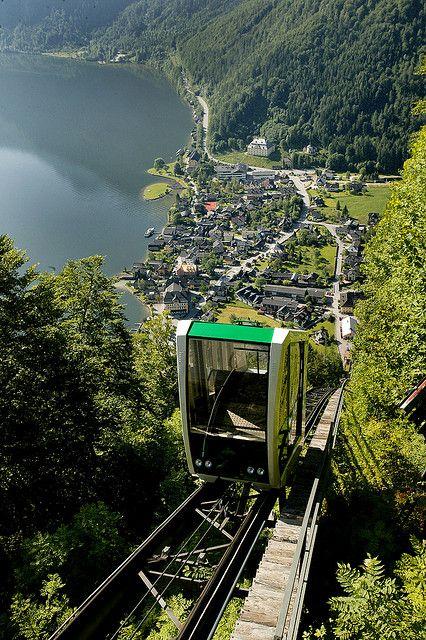 adrenaline trip taking skywalk in Hallstatt