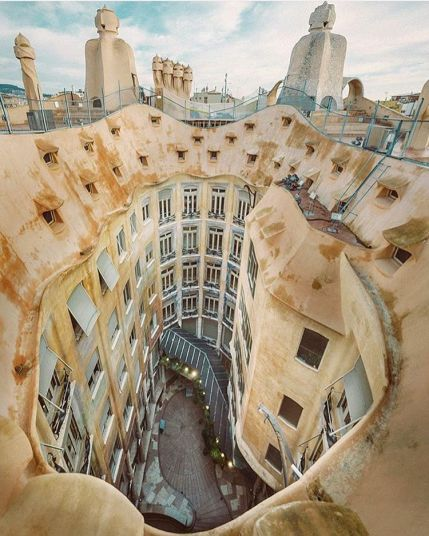 Casa Milà, Gaudi's historical site in Barcelona