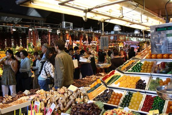 La Boquiera market, Barcelona, Spain