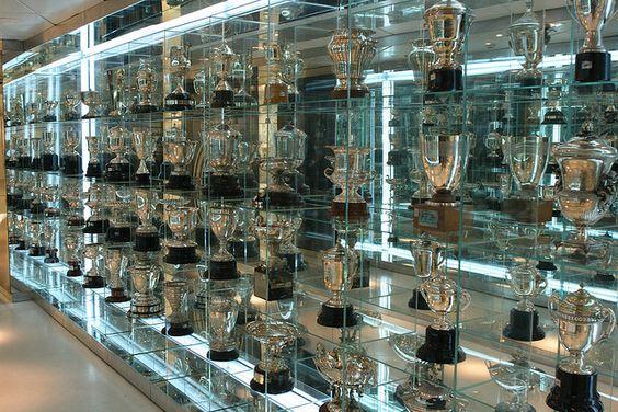 the trophies room, Santiago Bernabeu tour