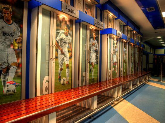 Madrid's locker room