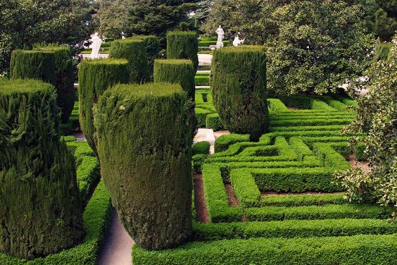 Sabatini garden in Royal Palace Madrid