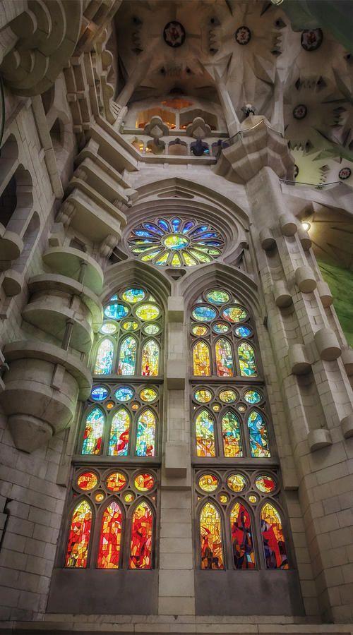the amazing interior of La Sagrada Familia