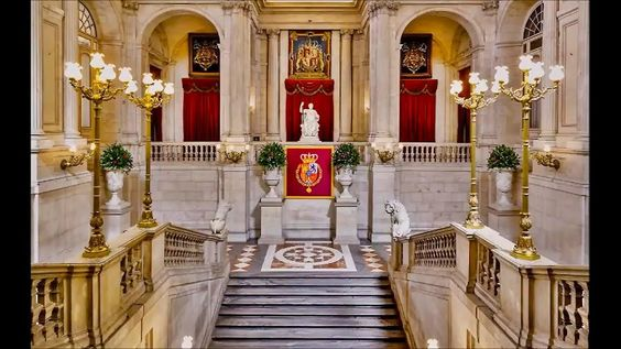 the grand staircases in the Royal Palace Madrid